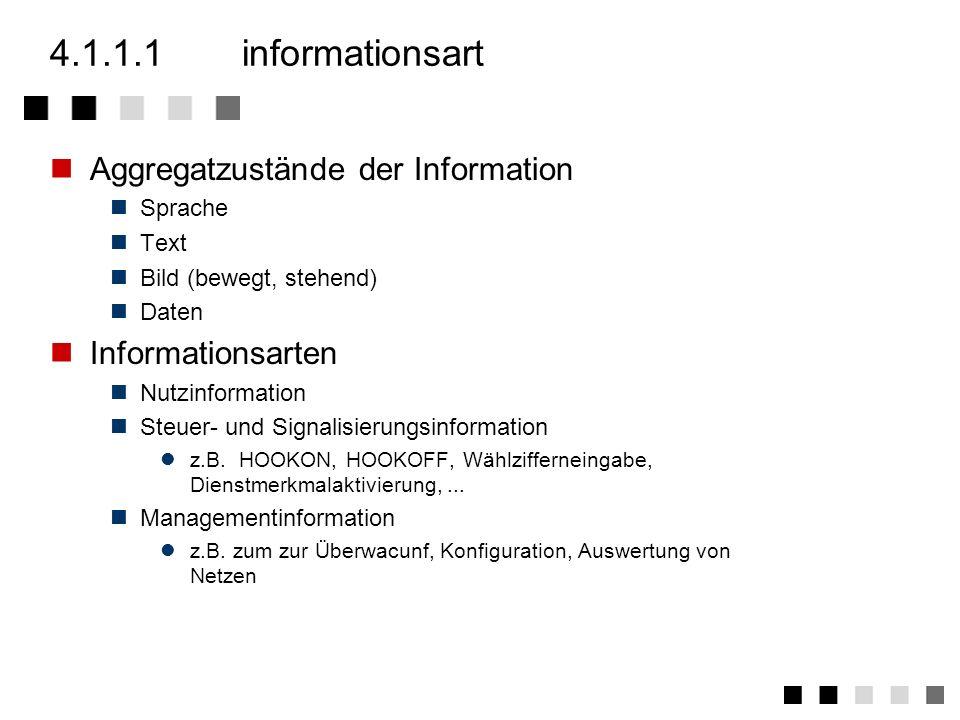 4.1.1.1 informationsart Aggregatzustände der Information