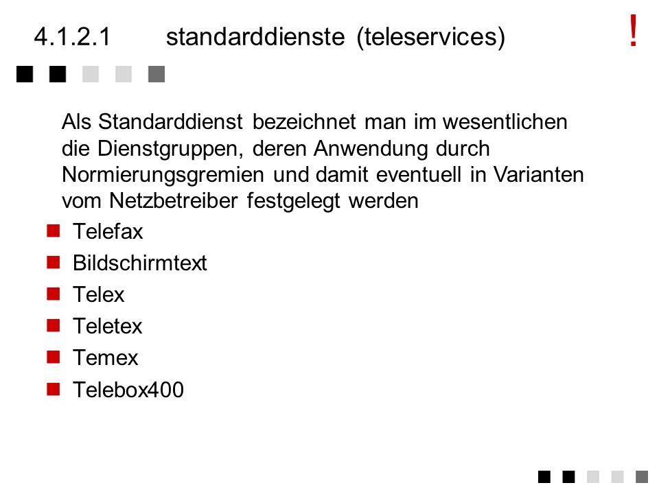 4.1.2.1 standarddienste (teleservices)
