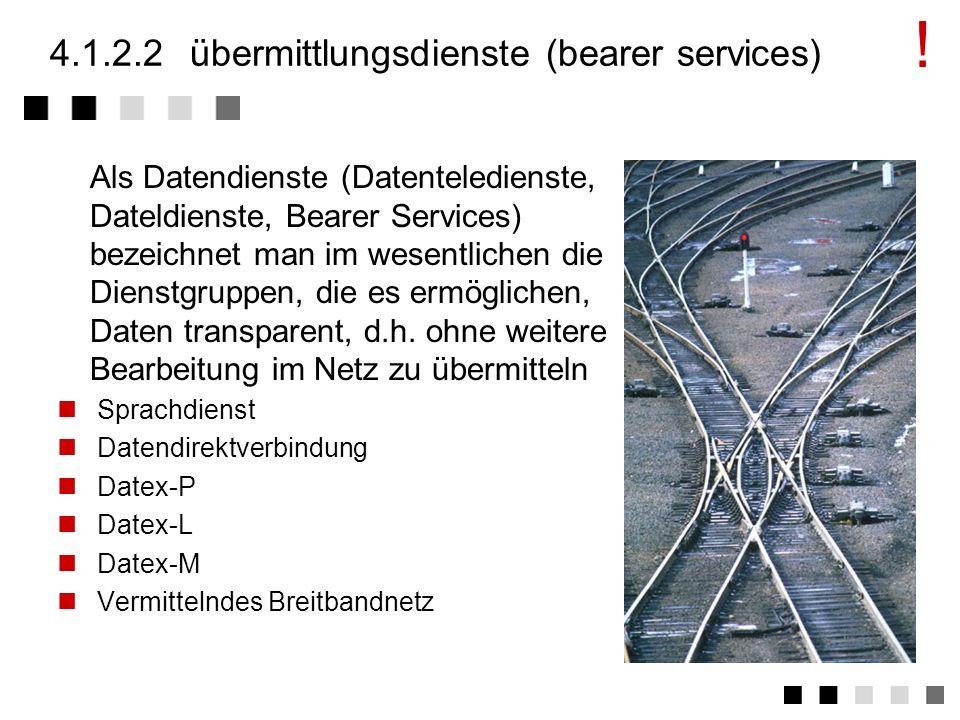 4.1.2.2 übermittlungsdienste (bearer services)