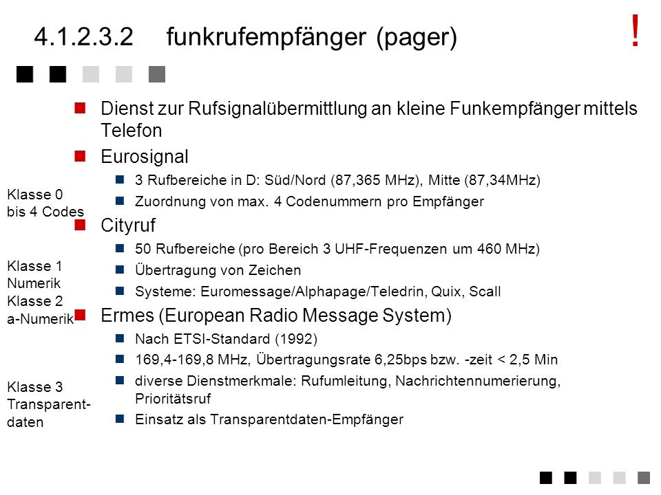 4.1.2.3.2 funkrufempfänger (pager)