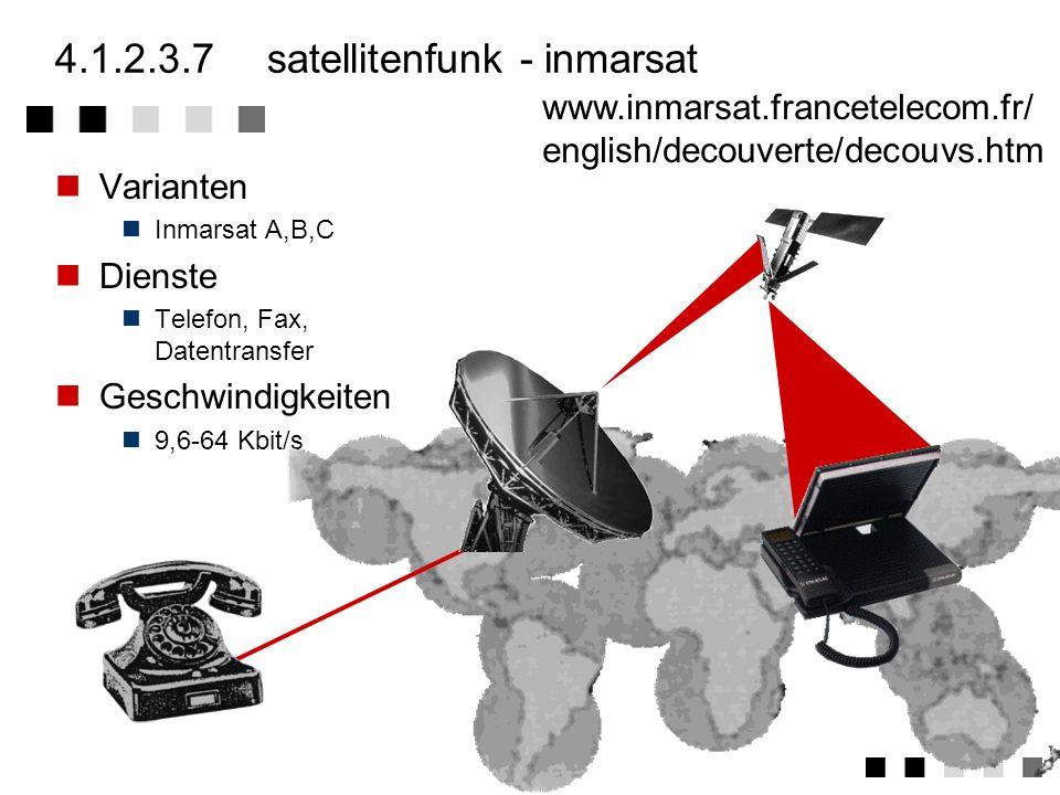 4.1.2.3.7 satellitenfunk - inmarsat