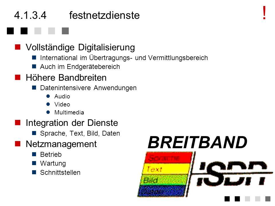 ! BREITBAND 4.1.3.4 festnetzdienste Vollständige Digitalisierung