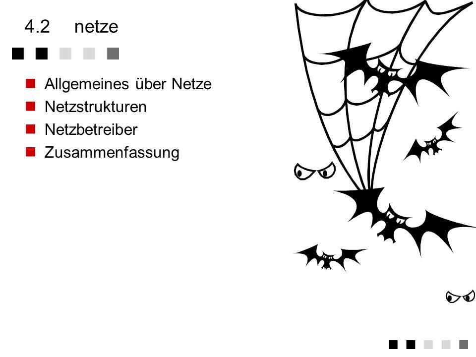 4.2 netze Allgemeines über Netze Netzstrukturen Netzbetreiber