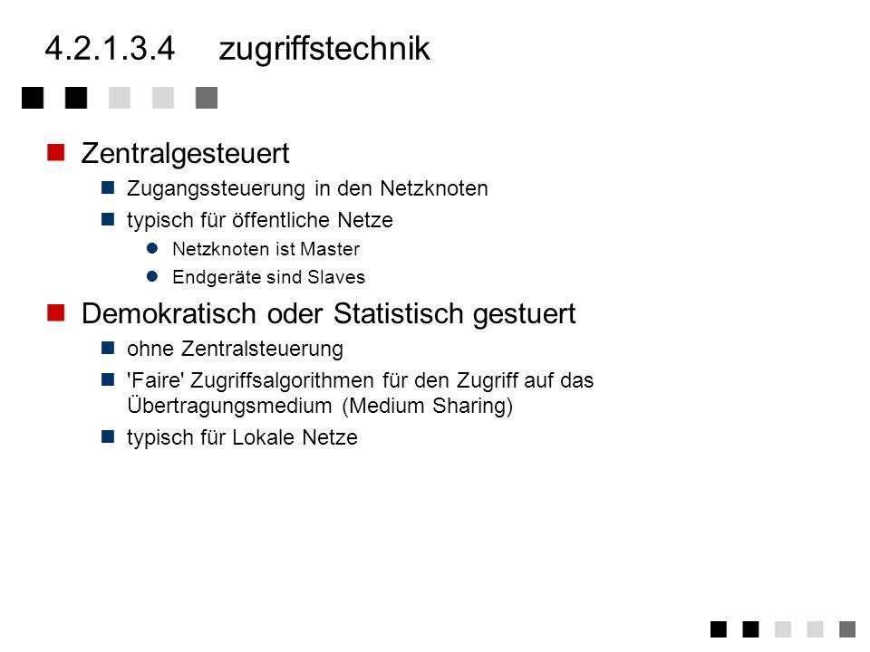 4.2.1.3.4 zugriffstechnik Zentralgesteuert