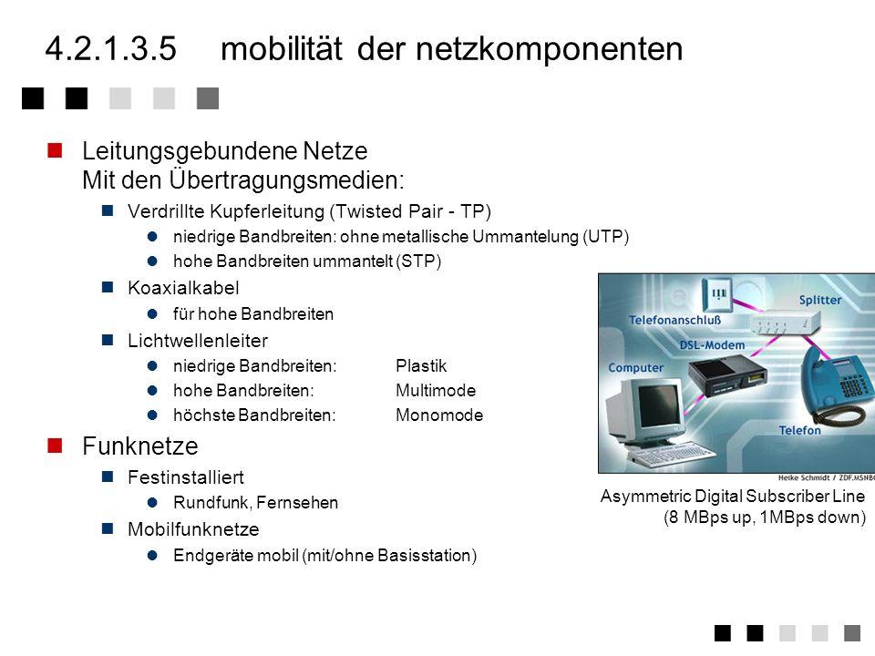 4.2.1.3.5 mobilität der netzkomponenten