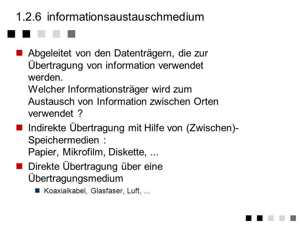 1.2.6 informationsaustauschmedium