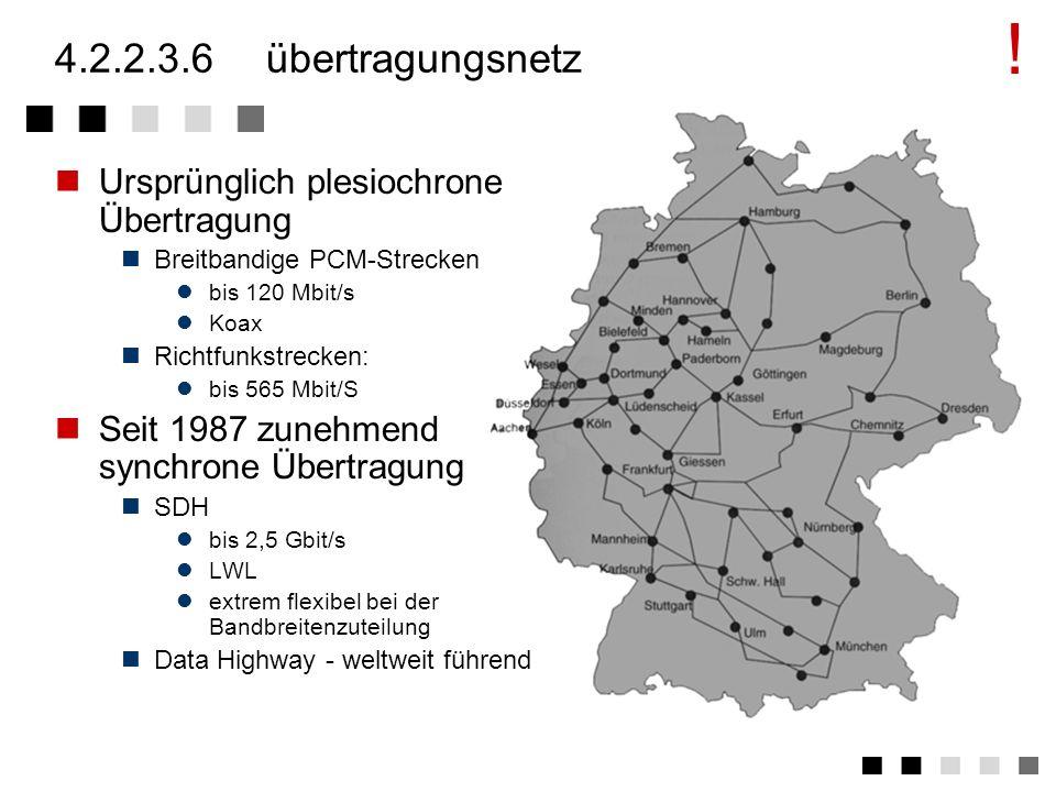 ! 4.2.2.3.6 übertragungsnetz Ursprünglich plesiochrone Übertragung