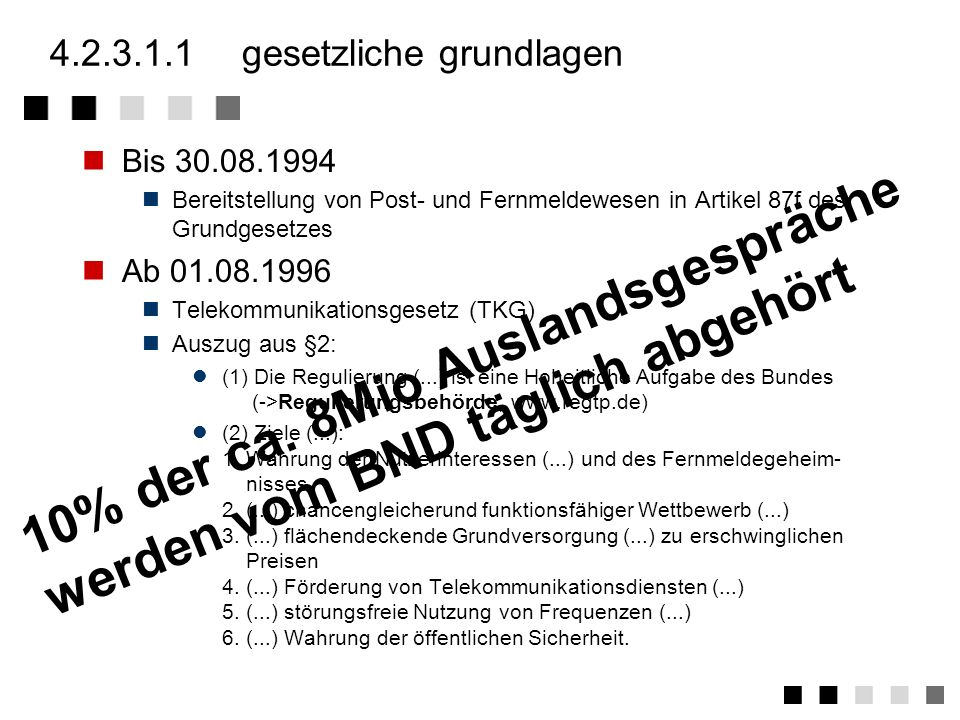 4.2.3.1.1 gesetzliche grundlagen