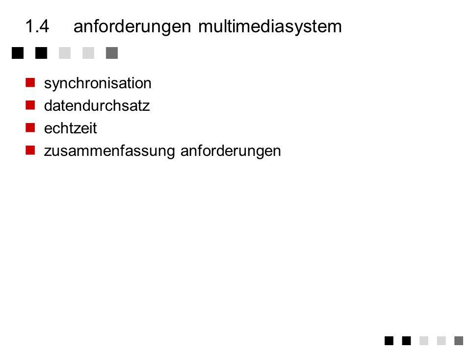 1.4 anforderungen multimediasystem