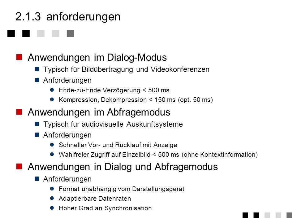 2.1.3 anforderungen Anwendungen im Dialog-Modus