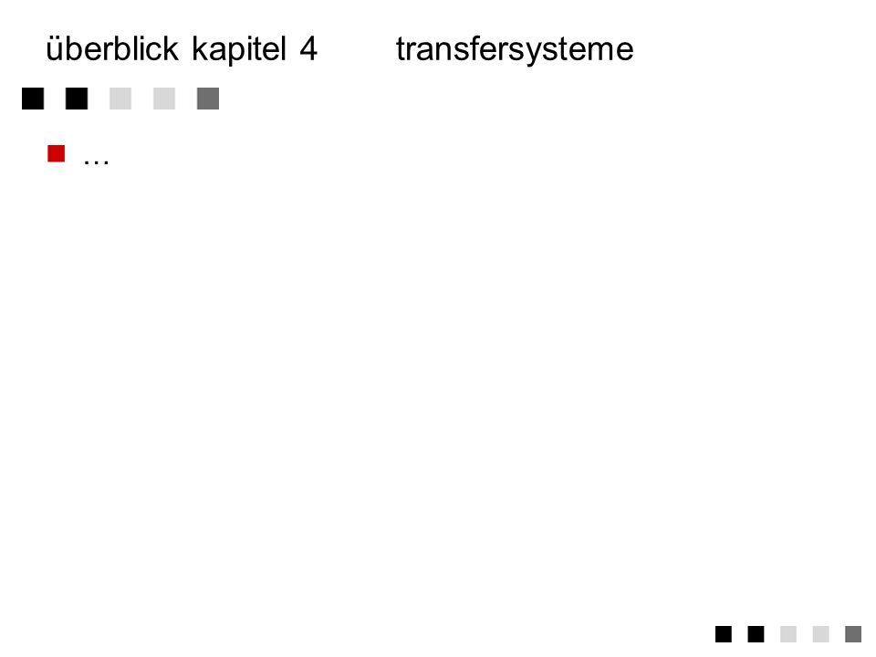 überblick kapitel 4 transfersysteme