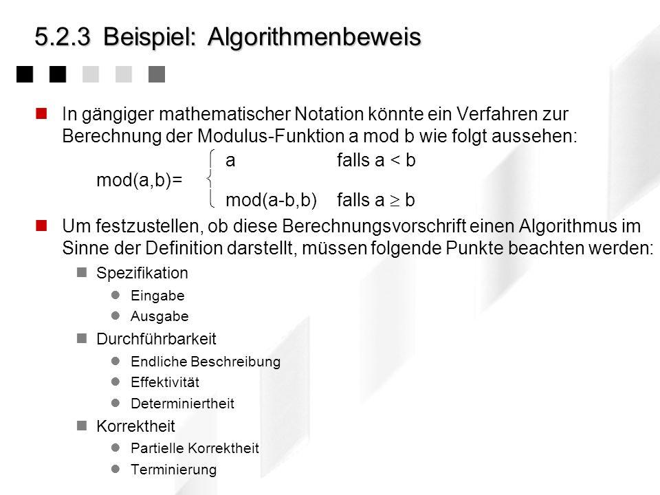 5.2.3 Beispiel: Algorithmenbeweis