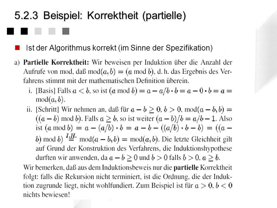 5.2.3 Beispiel: Korrektheit (partielle)