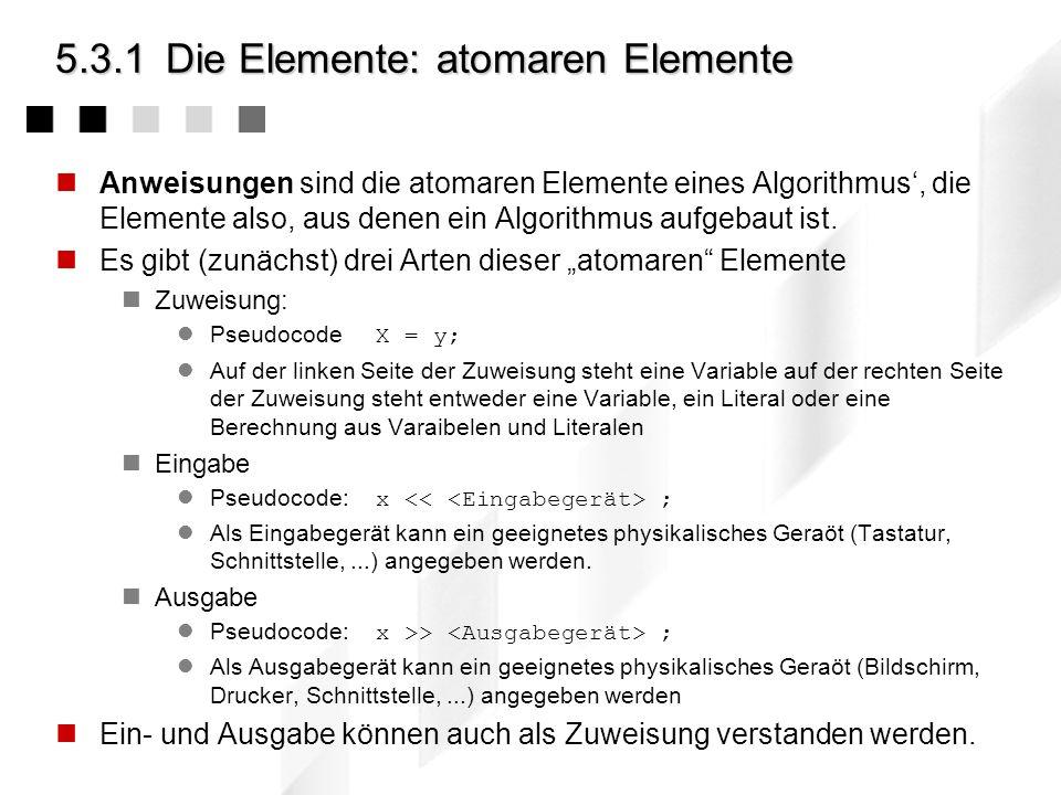5.3.1 Die Elemente: atomaren Elemente