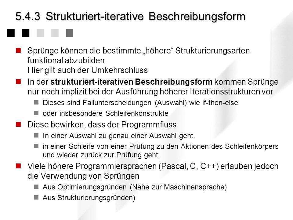 5.4.3 Strukturiert-iterative Beschreibungsform