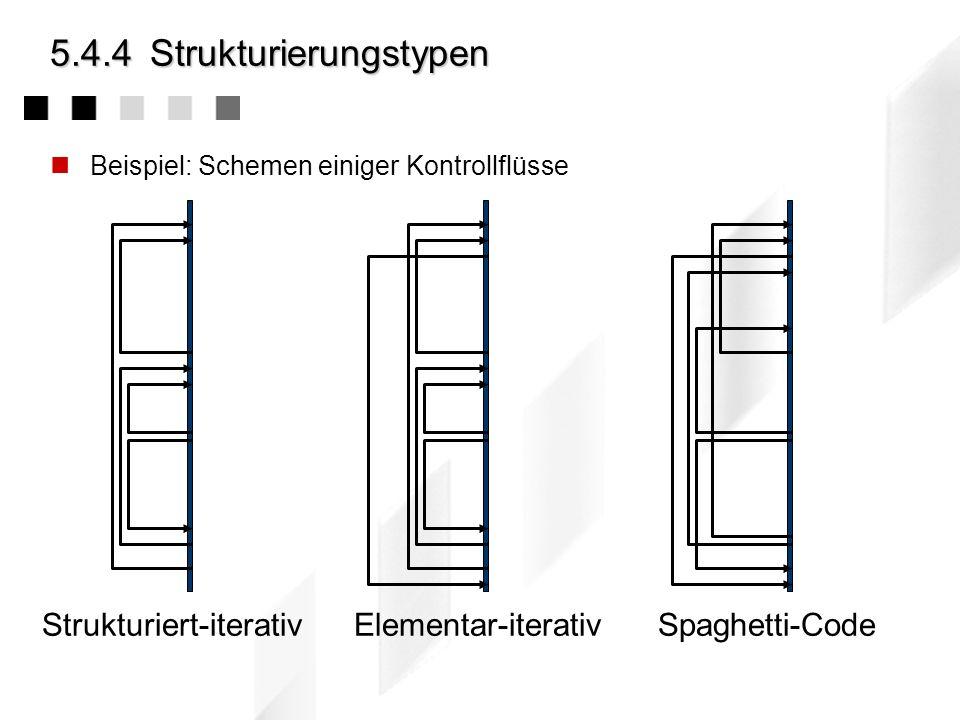 5.4.4 Strukturierungstypen