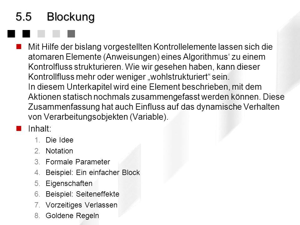 5.5 Blockung