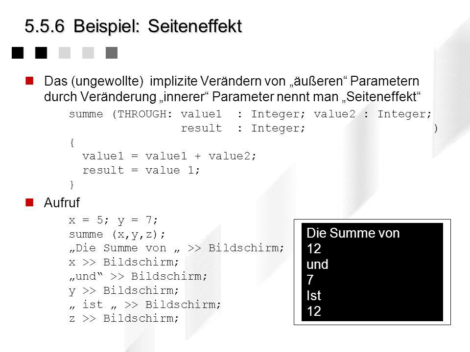 5.5.6 Beispiel: Seiteneffekt
