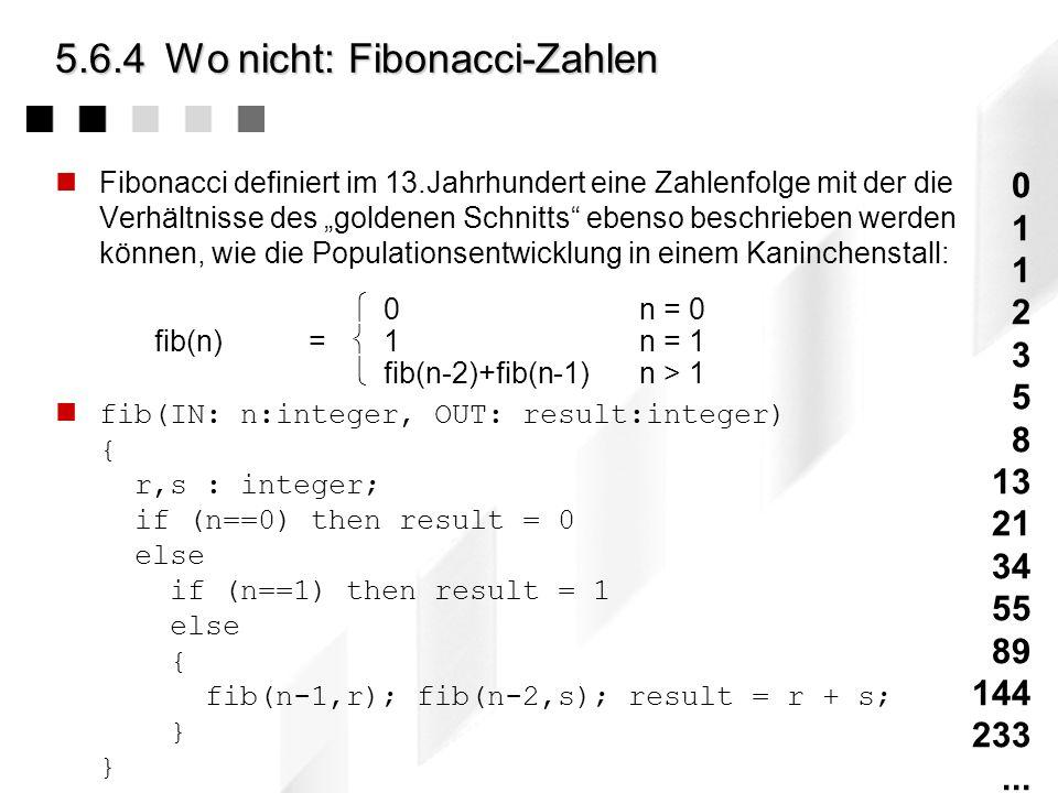 5.6.4 Wo nicht: Fibonacci-Zahlen