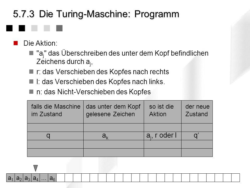 5.7.3 Die Turing-Maschine: Programm