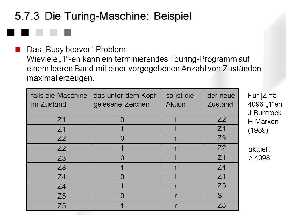 5.7.3 Die Turing-Maschine: Beispiel