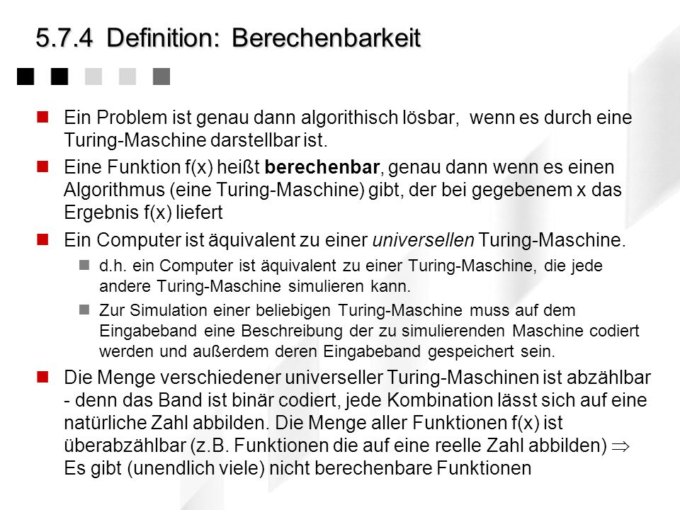5.7.4 Definition: Berechenbarkeit