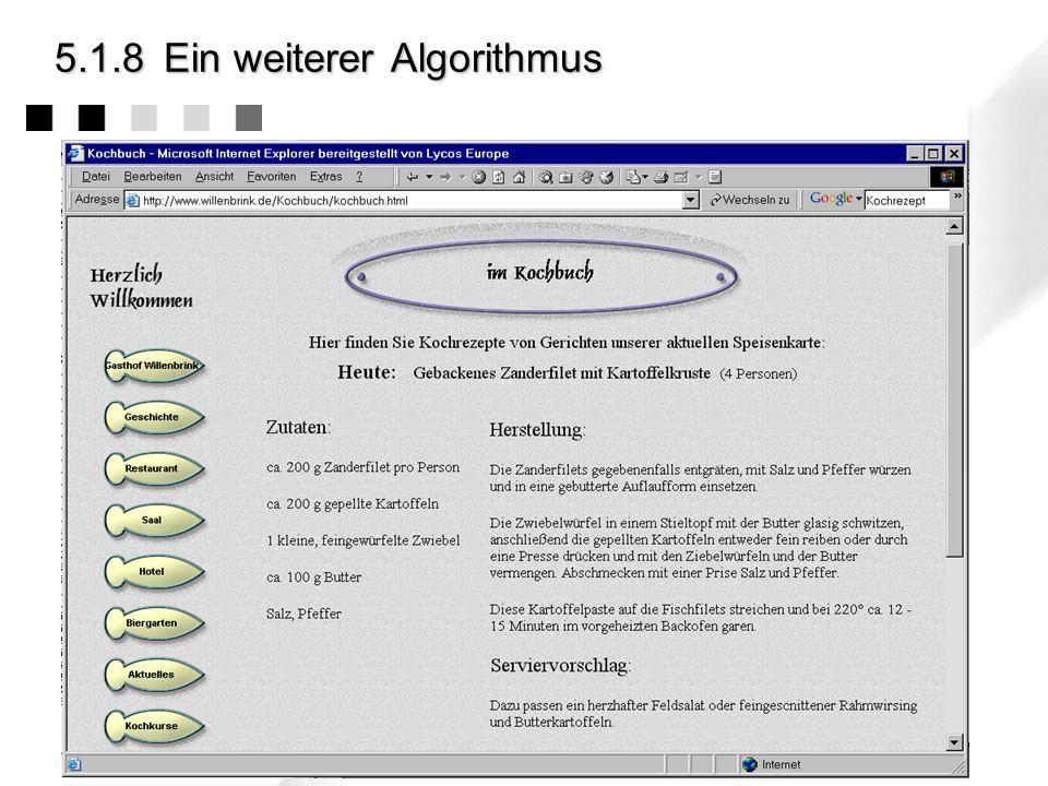 5.1.8 Ein weiterer Algorithmus