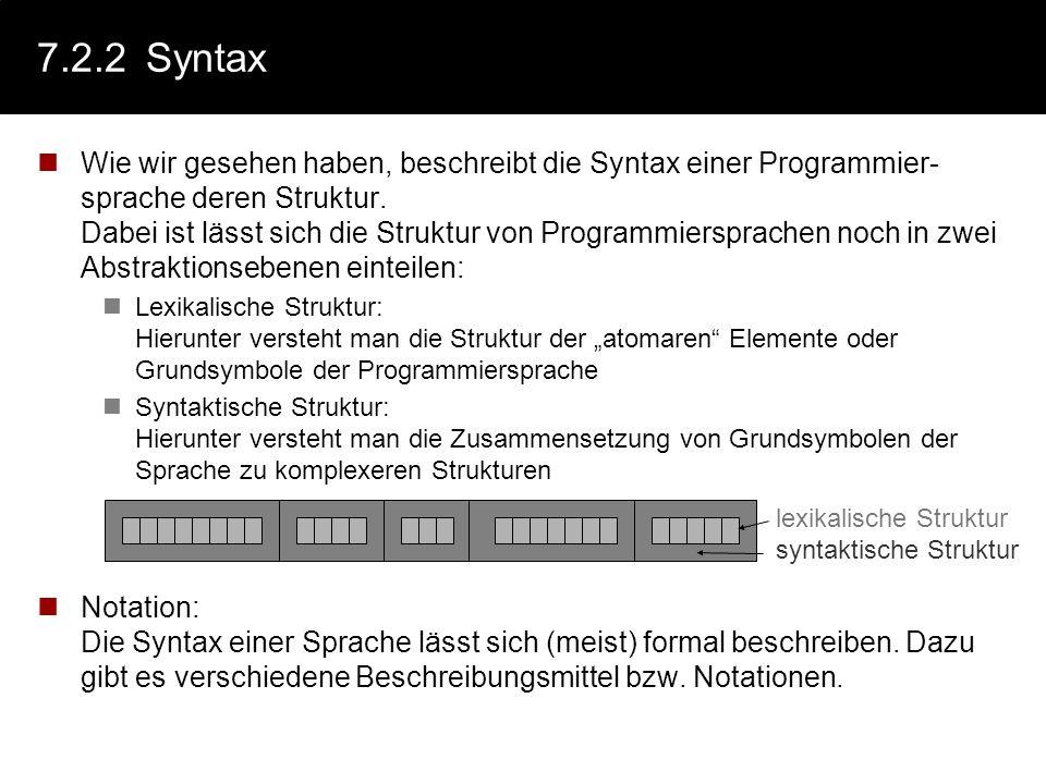 7.2.2 Syntax