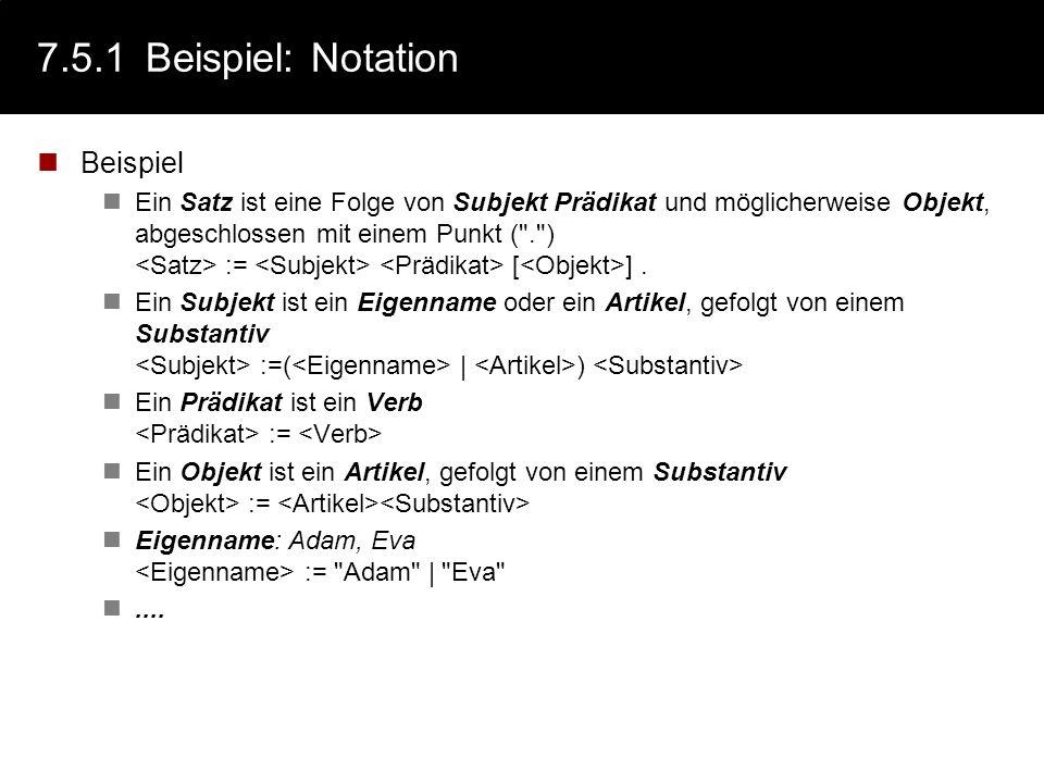 7.5.1 Beispiel: Notation Beispiel