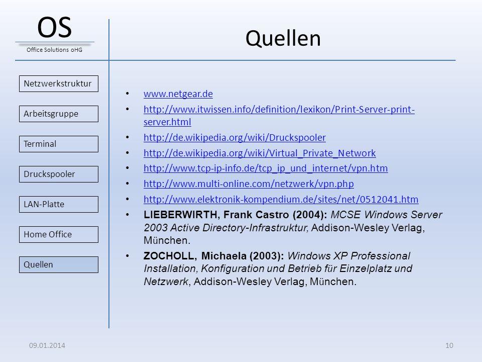OS Quellen www.netgear.de