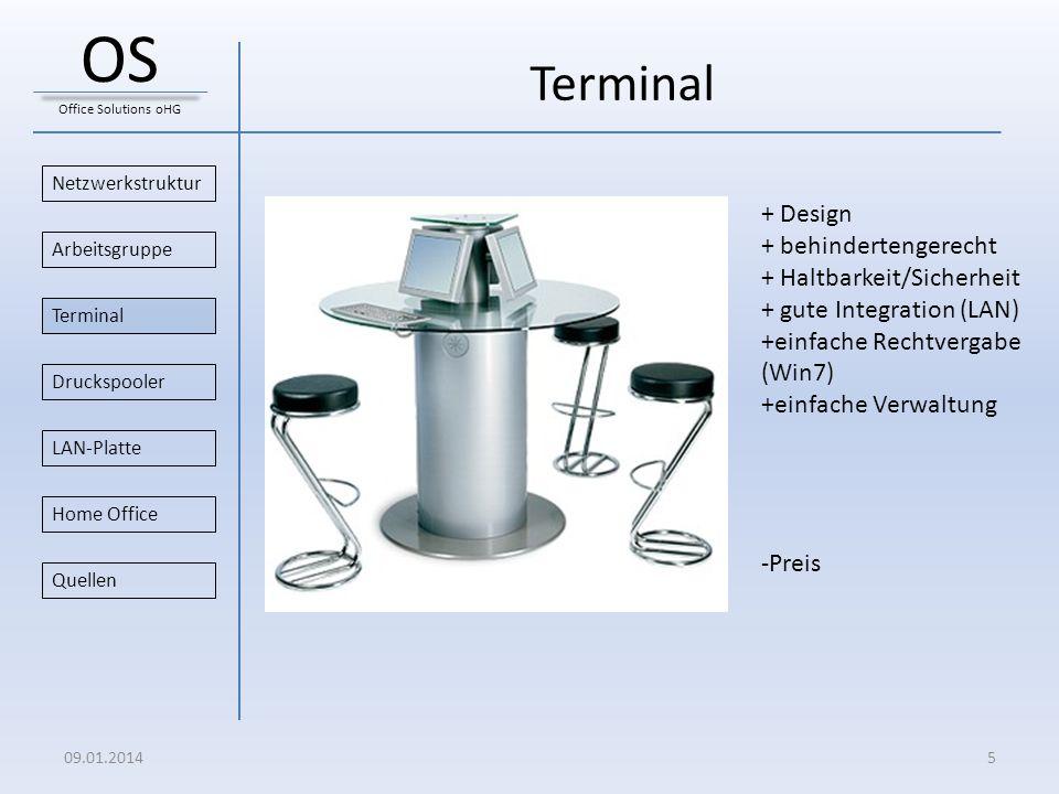 OS Terminal + Design + behindertengerecht + Haltbarkeit/Sicherheit