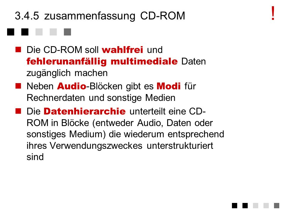 3.4.5 zusammenfassung CD-ROM