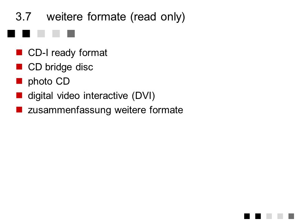 3.7 weitere formate (read only)