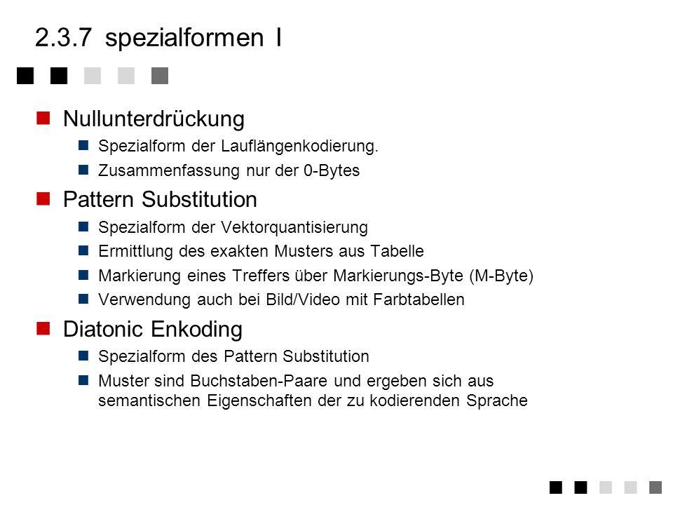 2.3.7 spezialformen I Nullunterdrückung Pattern Substitution