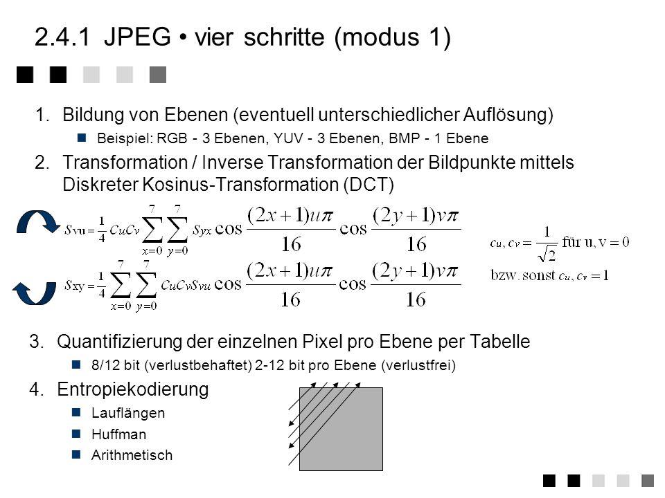 2.4.1 JPEG • vier schritte (modus 1)