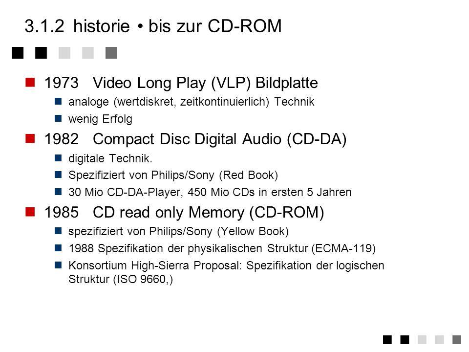3.1.2 historie • bis zur CD-ROM