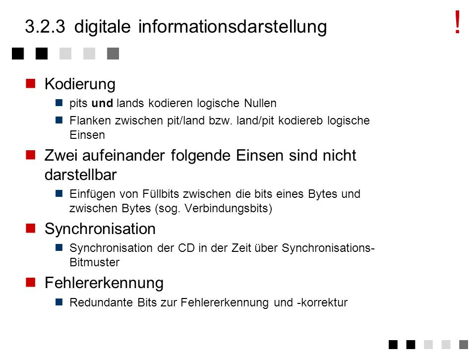 3.2.3 digitale informationsdarstellung