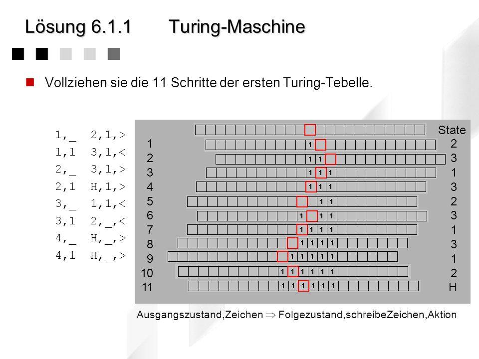 Lösung 6.1.1 Turing-Maschine