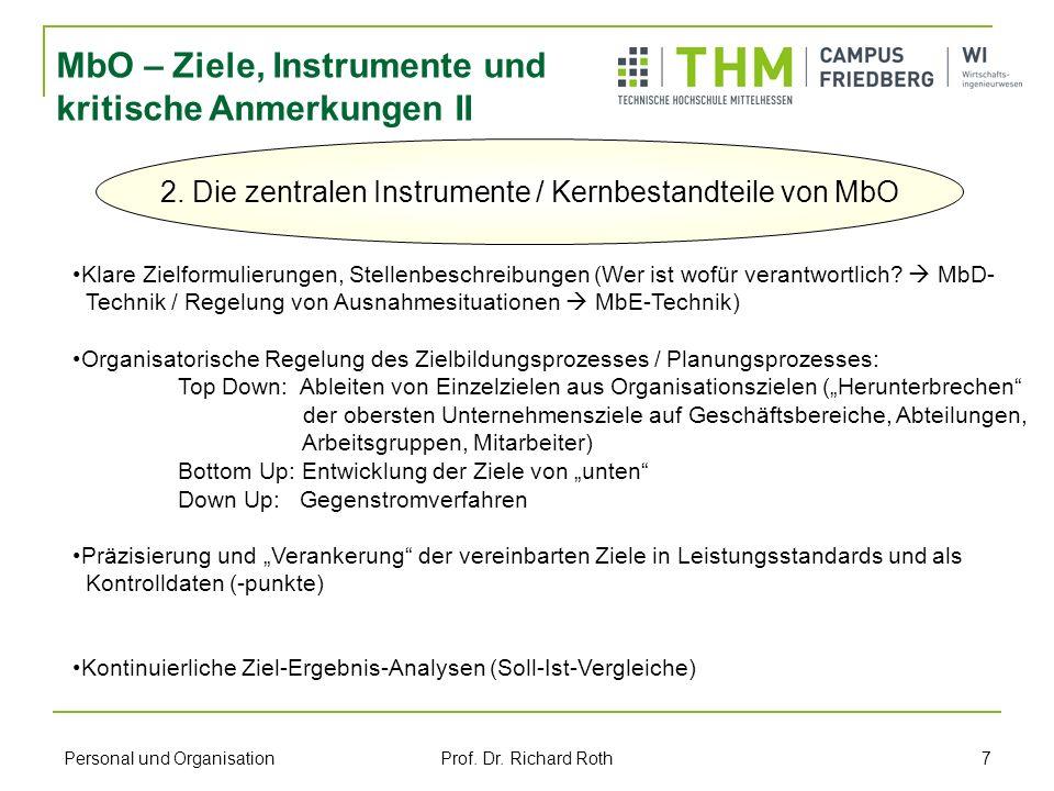 2. Die zentralen Instrumente / Kernbestandteile von MbO