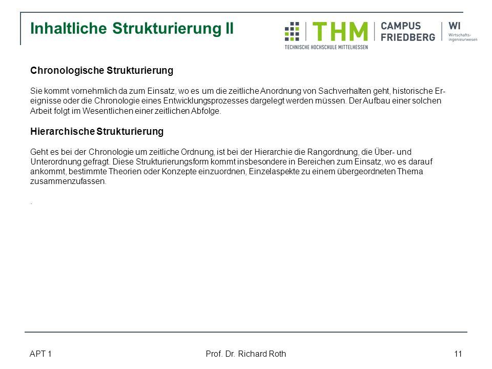 Inhaltliche Strukturierung II