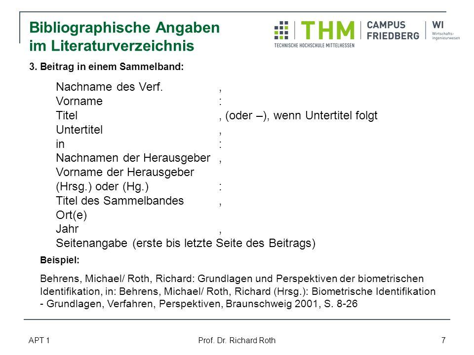 Bibliographische Angaben im Literaturverzeichnis