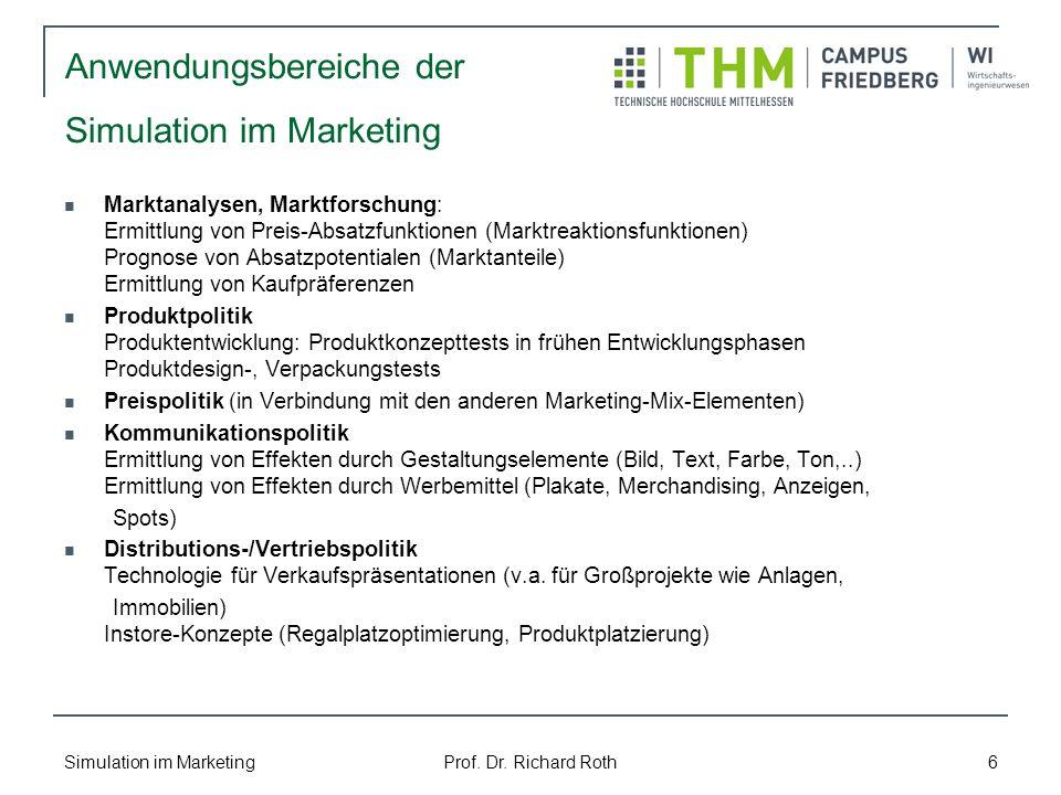 Anwendungsbereiche der Simulation im Marketing