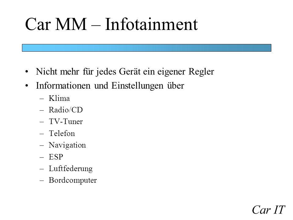 Car MM – Infotainment Nicht mehr für jedes Gerät ein eigener Regler