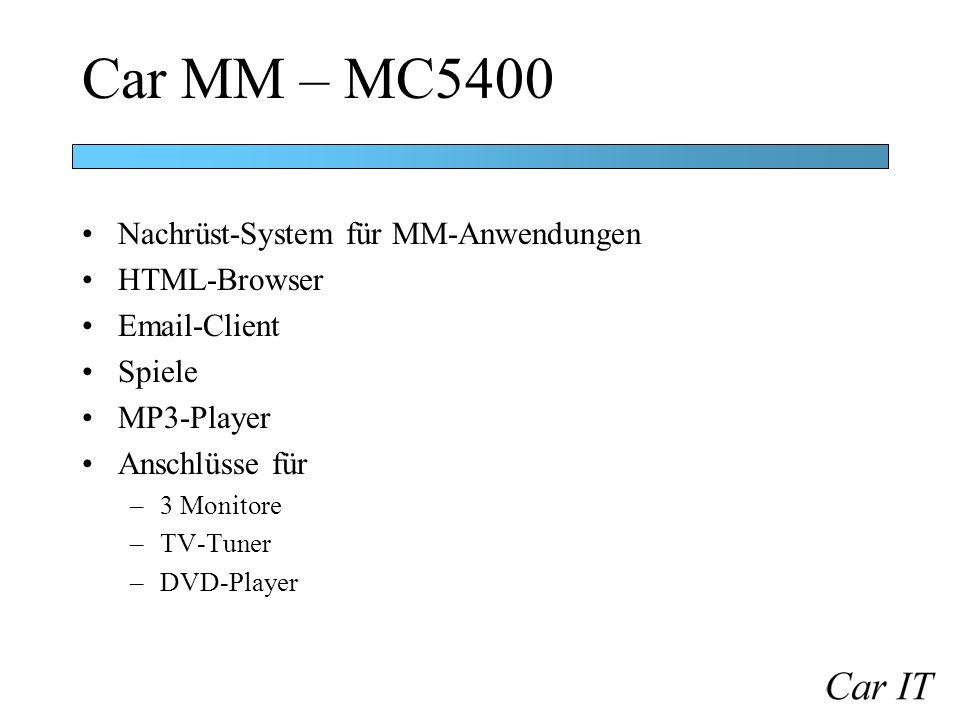 Car MM – MC5400 Nachrüst-System für MM-Anwendungen HTML-Browser
