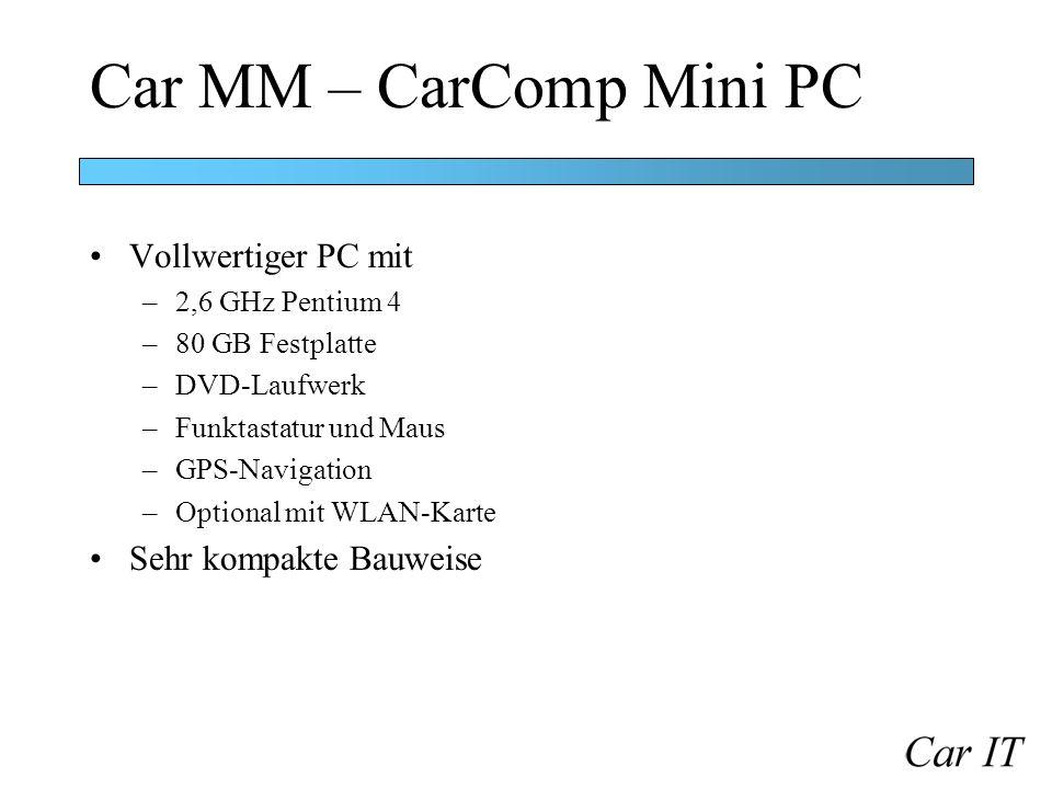 Car MM – CarComp Mini PC Vollwertiger PC mit Sehr kompakte Bauweise