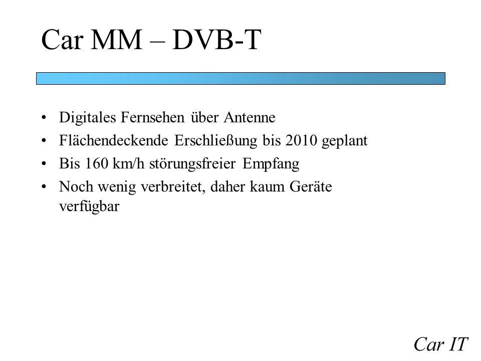 Car MM – DVB-T Digitales Fernsehen über Antenne