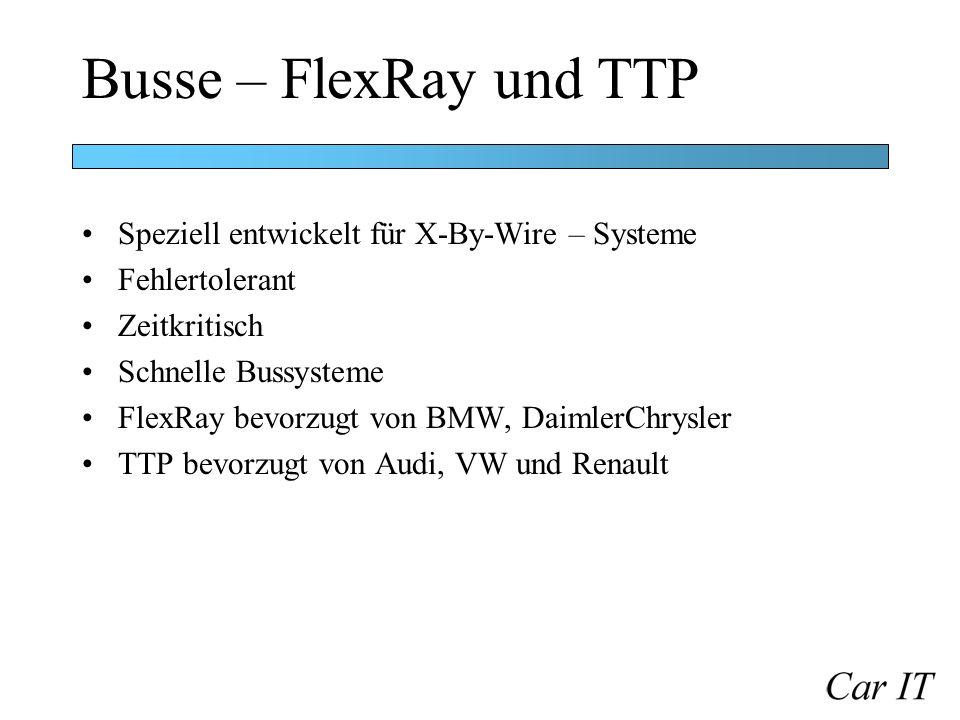 Busse – FlexRay und TTP Speziell entwickelt für X-By-Wire – Systeme