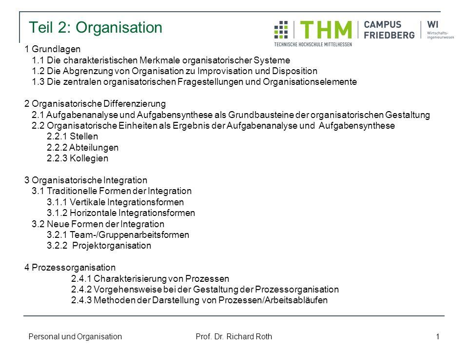 Teil 2: Organisation 1 Grundlagen