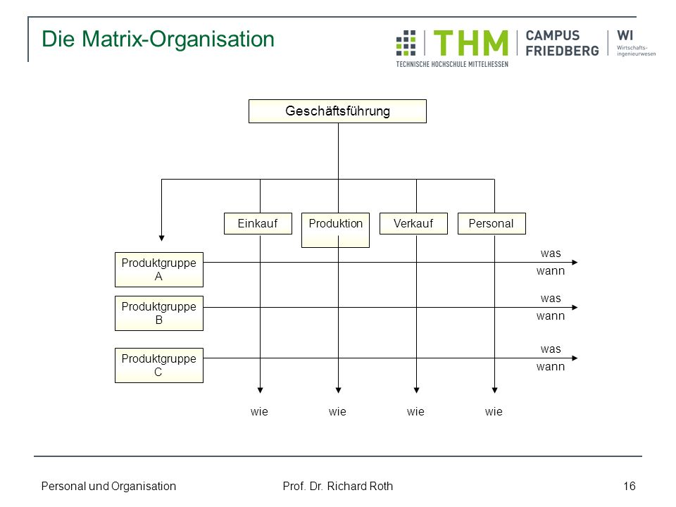 Die Matrix-Organisation