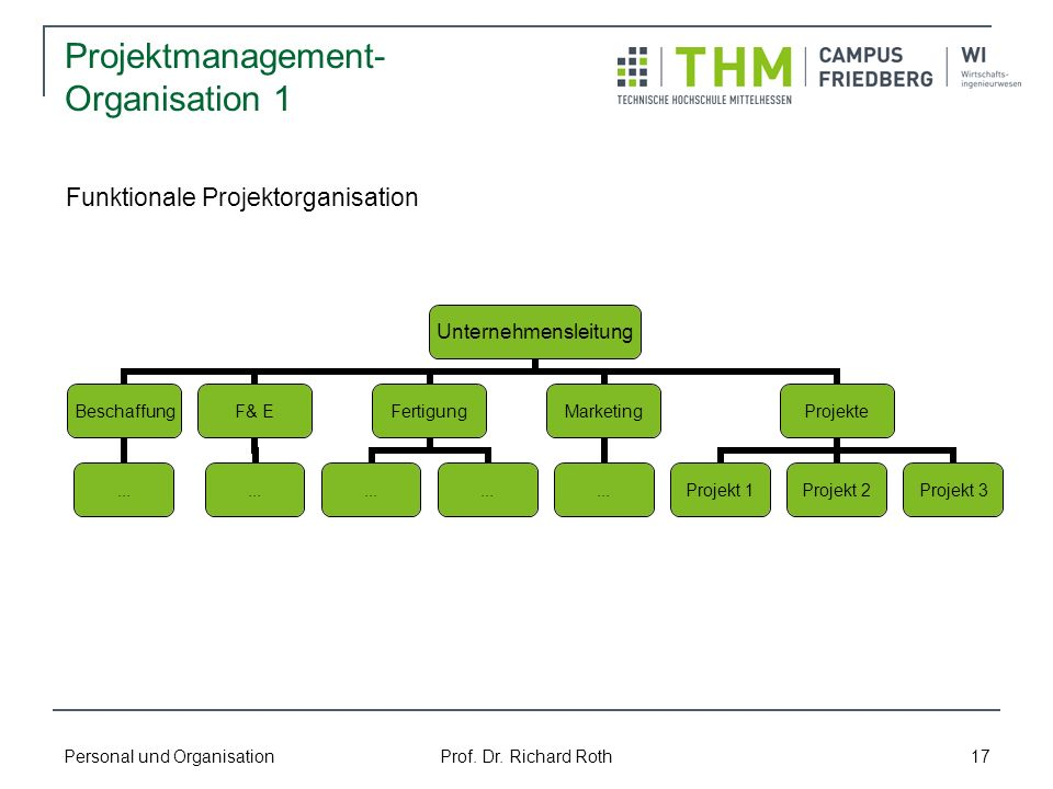 Projektmanagement-Organisation 1